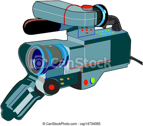 illustration of video cam clip art vector search drawings and rh canstockphoto com clipart caméra vidéo clip art video camera canon c300 lense