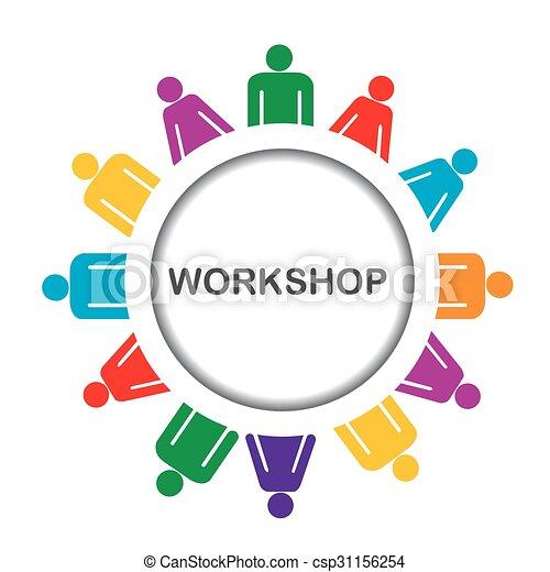 Illustration of workshop icon  - csp31156254
