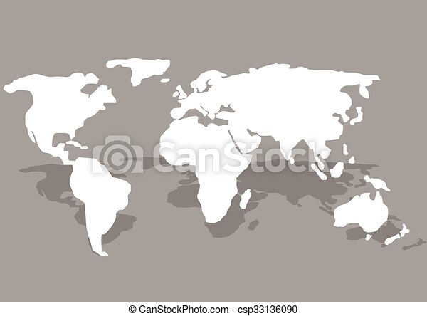 Illustration of world map white world map on the grey background illustration of world map gumiabroncs Image collections