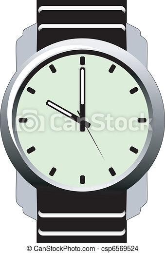 Illustration of Wristwatch - csp6569524