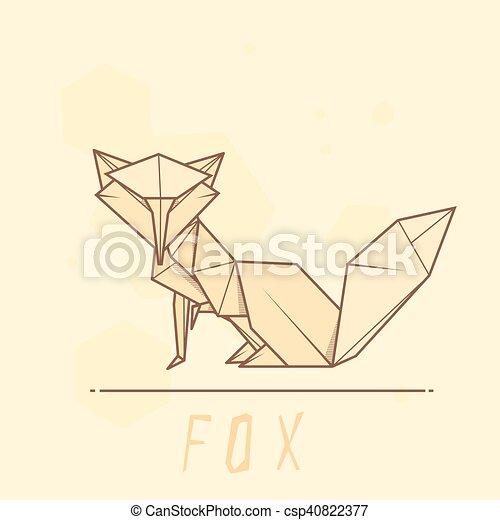 Illustration Paper Origami Of Fox