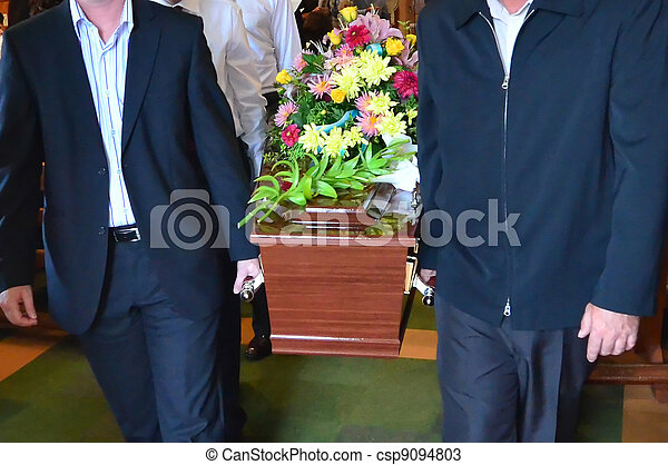 Illustration Photos - Funeral Ceremony - csp9094803