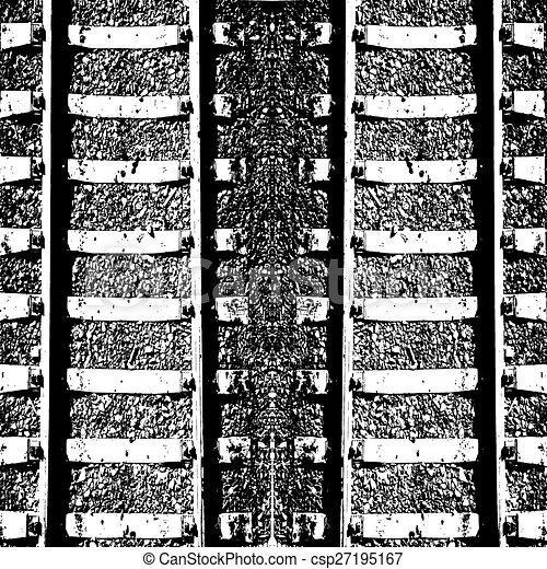 illustration., pista, dobro, lines., vetorial, estrada ferro - csp27195167