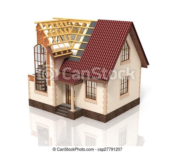 Illustration processo casa transizione costruzione for Piani di casa di 10000 piedi quadrati
