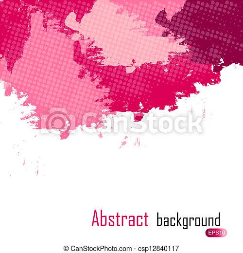 illustration., purpurowy, abstrakcyjny, text., malować, wektor, miejsce, plamy, tło, twój - csp12840117