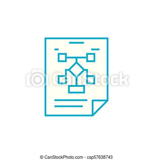 La Estructura Del Concepto De Icono Lineal De La