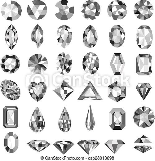 Illustration set of precious stones - csp28013698