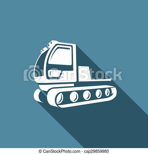 illustration., snowcat, vorbereitung, ausrüstung, vektor, icon., ski, slopes. - csp29859980