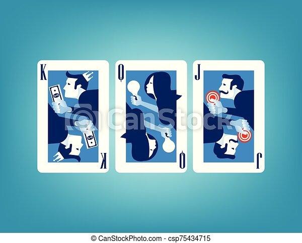 illustration., vecteur, concept affaires, card. - csp75434715