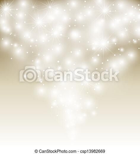 illustration., vecteur, hiver, fond, neige - csp13982669