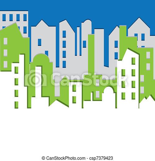 Cityscape. Ilustración del vector. - csp7379423