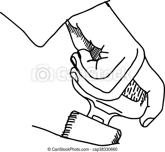 illustration vector doodle hand drawn of sketch hand clip art rh canstockphoto com doodle clipart free doodle clipart png
