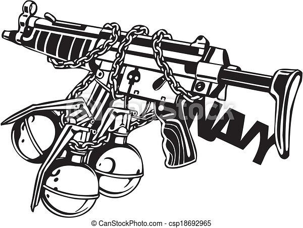 illustration., -, vektor, design, vinyl-ready, militaer - csp18692965