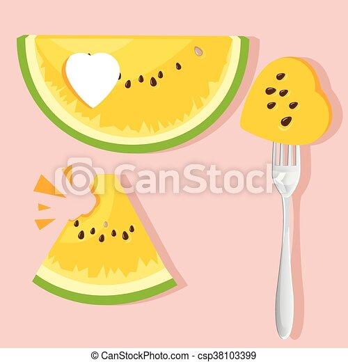 illustration watermelon - csp38103399