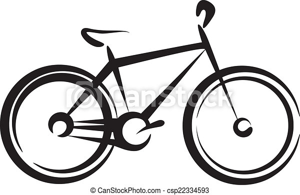 Simple bicycle illustration - photo#38