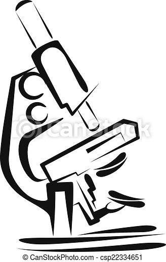 Illustration with a microscope. Scientific concept - csp22334651