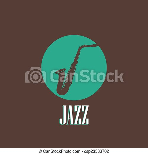 illustration with a saxophone - csp23583702