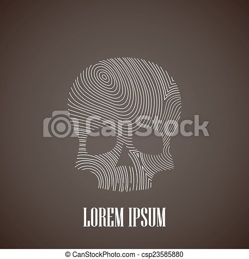 illustration with a skull - csp23585880