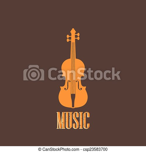 illustration with a violin - csp23583700