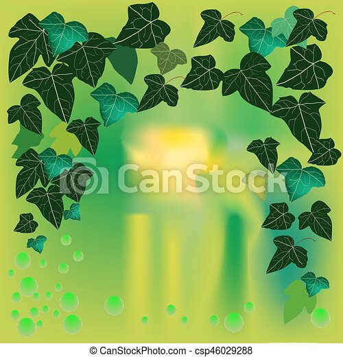 Illustration with Ivy background - csp46029288