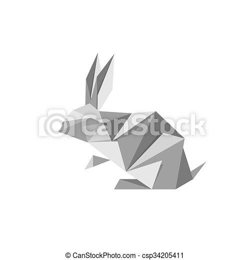 Origami Rabbit Vector Clipart EPS Images 362 Origami Rabbit Clip