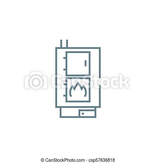 Illustration., zeichen, concept., heizung, symbol, vektor, boiler ...