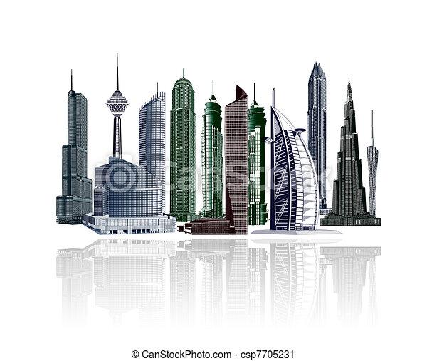 illustrative city buildings city buildings clipart search rh canstockphoto com city buildings clipart City Logos Clip Art
