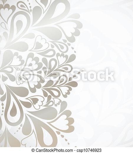 illustrazione, disegno, argento, fondo - csp10746923
