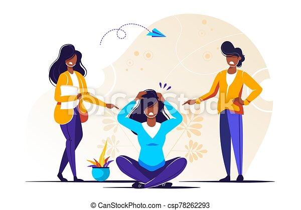 illustrazione, vettore, problema, bullying - csp78262293