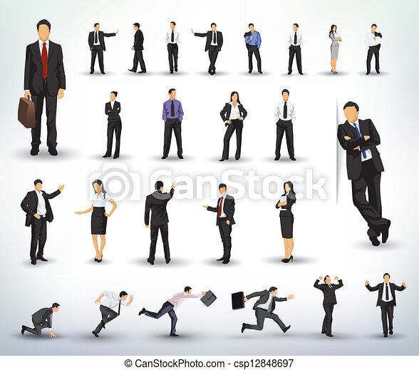 illustrazioni, persone affari - csp12848697