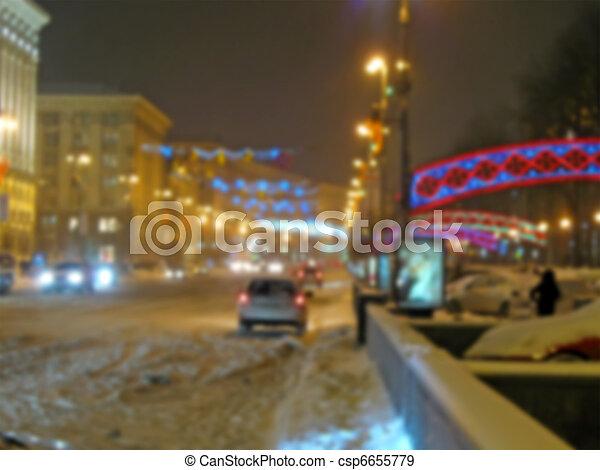 iluminação, abstratos, rua, borrão - csp6655779