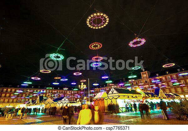 iluminación, navidad, mercado, madrids - csp7765371
