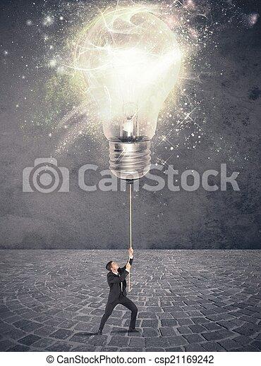 Ilumina una idea - csp21169242