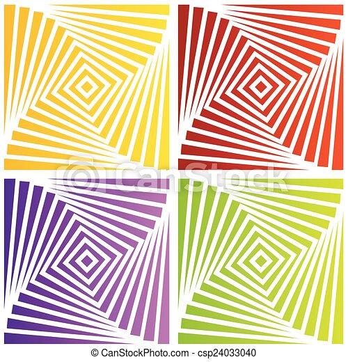 ilusão óptica, coloridos - csp24033040