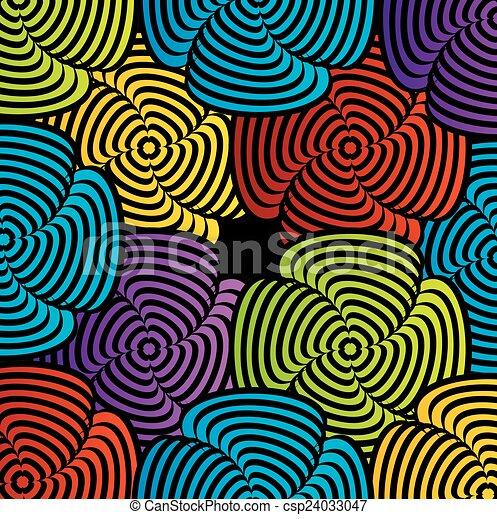 ilusão óptica, coloridos - csp24033047