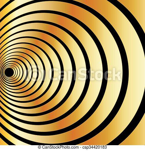 ilusão óptica, ouro - csp34420183