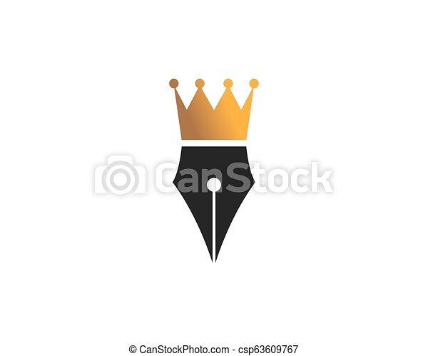 ilustração, caneta, vetorial, desenho, logotipo, ícone - csp63609767