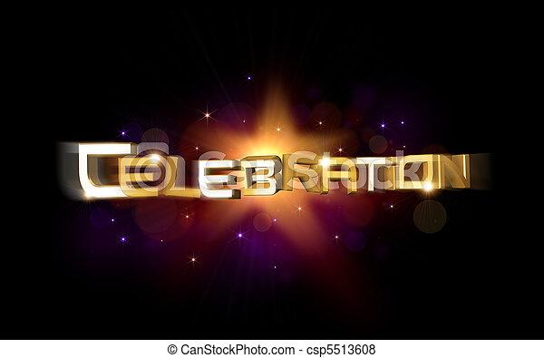 ilustração, celebração - csp5513608