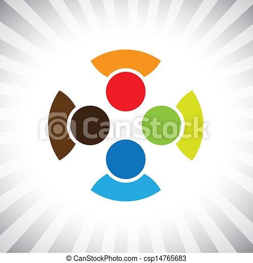 ilustração, divertimento, get-together-, represente, este, reunião, camaradas, &, pessoas, comunidade, tendo, também, unidade, vetorial, tocando, diversidade, camaradas, graphic., amigos, crianças, lata - csp14765683