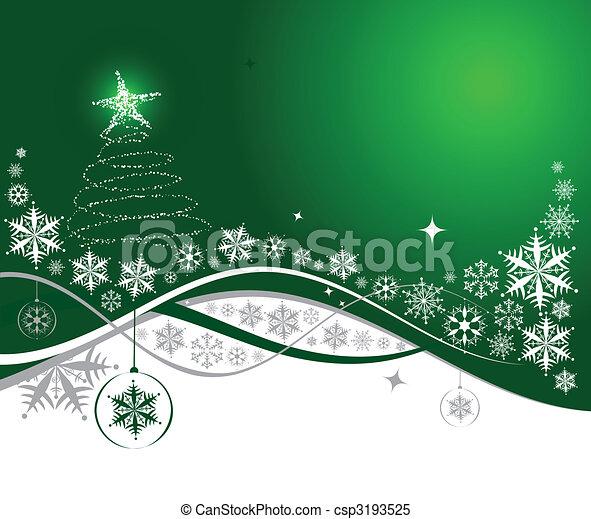 ilustração, natal, fundo, vetorial, desenho, feriado, seu - csp3193525