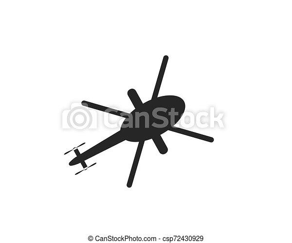 ilustração, vetorial, desenho, helicóptero, logotipo, ícone - csp72430929