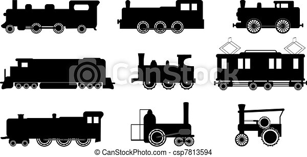ilustrações, trem - csp7813594