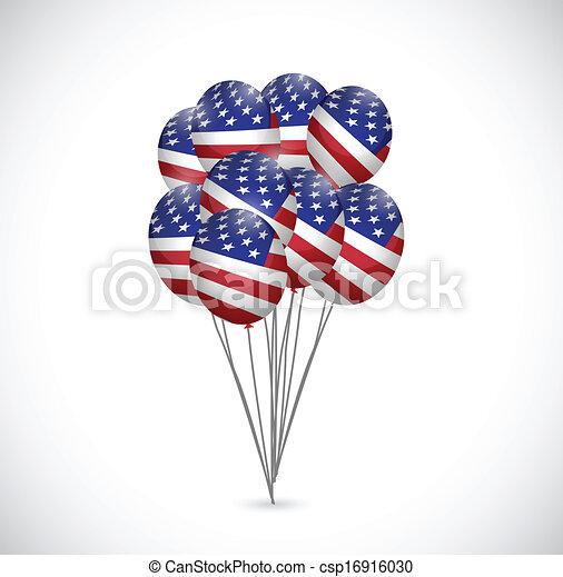 Nosotros los globos de bandera ilustran - csp16916030