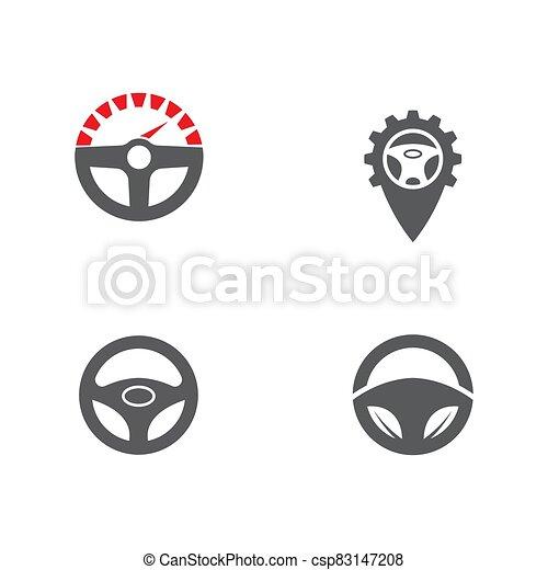 ilustración, conductor, plantilla, icono, vector - csp83147208