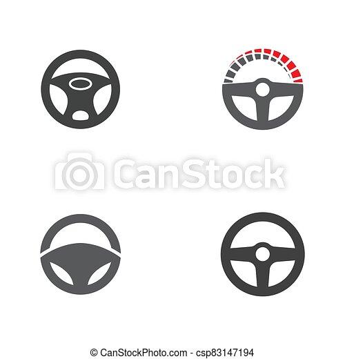 ilustración, conductor, plantilla, icono, vector - csp83147194