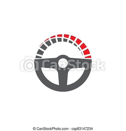 ilustración, conductor, plantilla, icono, vector - csp83147234