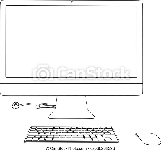 Computadora de ilustración 3D - csp38262396