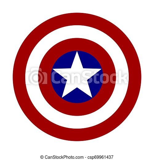 Logo de ilustración vectorial representando a la nación de América - csp69961437