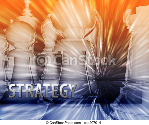 Ilustración de estrategia de negocios - csp2070141
