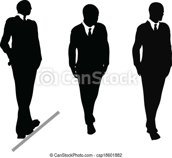 Grfico vectorial de ilustracin negocio silhouette traje